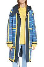 NEW Tory Burch Sport Reversible Coated Canvas Rain Coat- Blue / Plaid - One Size