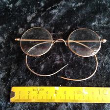 eine alte Brille,Nickelbrille,runde Gläser,vergoldet oder Double