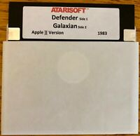Defender / Galaxian / Works on all Apple II, IIe, IIc, & IIgs Computers