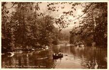 C49-2720, PARADISE POND, NORTHAMPTON, MA. Postcard.