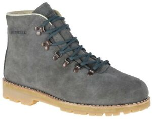 Merrell Men's Wilderness USA Suede Hiking Ankle Boots in Steel Gray Size 11.5