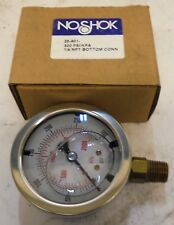 NOSHOK PRESSURE GAUGE, 25-901, 300 PSI, 1/4'' NPT BOTTOM CONNECTION