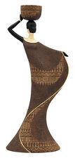 "African Tea Light Woman Candle Holder 15"" Brown United Treasures  Figurine"