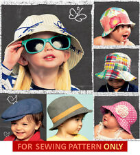 SEWING PATTERN!  MAKE BABY~TODDLER BOY & GIRL SUMMER HAT~CAP! 8 STYLES~5 SIZES!