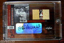 Stan Musial 2005 Leaf Limited 6/10  Autographed Double Game Used Card 1/1
