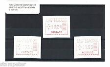 New Zealand September 84 rare first set of frama labels