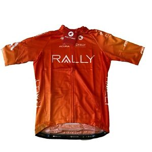 New 2020 Men's Pactimo Rally Pro Cycling Ascent Aero SS Jersey, Orange, Small