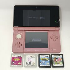 Nintendo 3DS CTR-001 Pink Console w/ Games - No Charger - Tested & Working