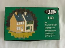 HELJAN HO SCALE DOUBLE HOUSE MODEL KIT #155