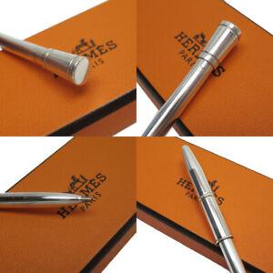 HERMES Sterling Silver Ballpoint Pen 925