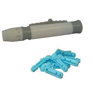 Lancing Device + 28g Sterile Lancets For Blood Test Kits