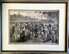 WINSLOW HOMER NEW ENGLAND FACTORY LIFE tiré du HARPER'S WEEKLY 1868  BOIS GRAVE