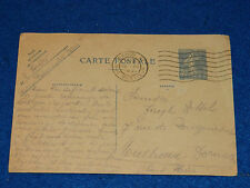 1931 CPA CARTE POSTALE TIMBRE semeuse 40c PARIS RUE MERCOEUR entier postal