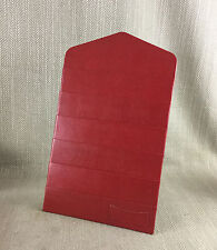 Vintage Red Leather stationery Paper Writing Letter Desk Tidy Holder Stand Rack