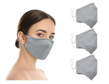 Washable Reusable Double Layer Cotton Cloth Face Mask (In Stock) - 3 Pack