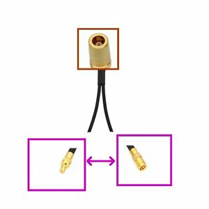 1x SMB jack to 2x SMB Male/Female GPS Antenna Y Splitter/Combiner Adapter cable