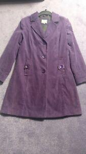 Per Una Purple Cord Coat, Size 12