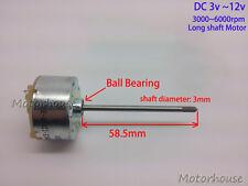 Long Shaft Ball bearing DC 3v~12v 5v Mini 32mm RF-500 Motor DC Electric  Motor