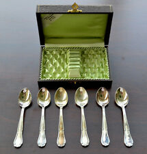 (6) Vintage 12 90 Berndorf Silver Tea Spoons in Box - Rare FAST SHIPPING