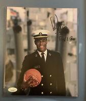 DAVID ROBINSON Signed 8x10 Photo, JSA COA, Classic Image, NAVY, Spurs Admiral