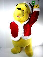 "Disney Winnie the Pooh 26"" Christmas Bear Stuffed Toy Mistletoe Plush Tags Large"