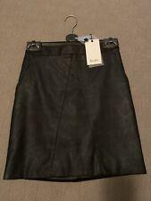 Bardot Size 6 Black Leather Skirt