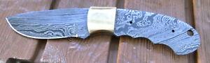 DAMAST Messer Drop-point Klinge Rohling  für Messermacher 945