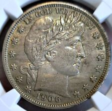 ~☆EVERYMAN!☆~ AU-58 1906 Barber Half Dollar NGC A very beautiful coin