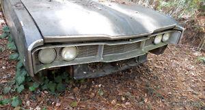 Mopar good used 1968 Dodge Polara 500 Fasttop grilles / 383 loaded parts car