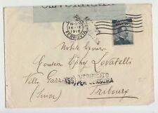 1916 busta MILANO-SVIZZERA+bollo MILANO POSTA ESTERA ROSSO+FASCETTO CENSURA-M333