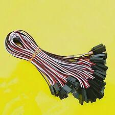 50 x 30cm Wire Servo Extension Lead Connectors Plug Cable For Futaba JR