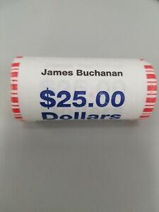 2010 Presidential Dollars James Buchanan $25 Dollar Coin Roll US MINT