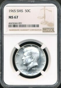 1965 SMS Kennedy Half Dollar NGC MS 67 *Pulled From A Special Mint Set (SMS)!*