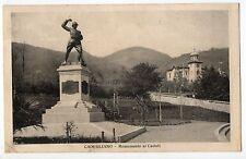 CADEGLIANO VICONAGO VARESE MONUMENTO AI CADUTI CARTOLINA 1927 VIAGGIATA