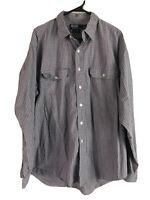 Polo Ralph Lauren GI Button Up Shirt Mens XL Gray Red Plaid Long Sleeve Cotton