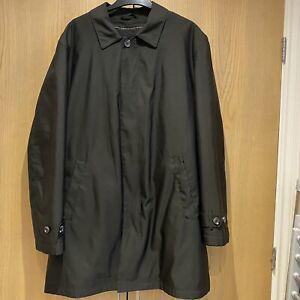 Mens M&S Autograph Size Large Black Raincoat With Zip Out Liner Jacket Coat