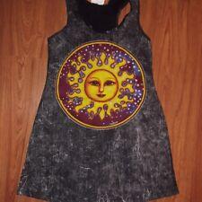 Yoga tunic dress No time cotton Peace Hippie Sun Earth Moon new Retro Vintage M