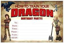 1 x HOW TO TRAIN YOUR DRAGON CHILDRENS BLANK DIY BIRTHDAY INVITATIONS + MAGNETS