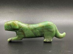 Old Antique Aventurine Jade Tiger Figure Bead Pendant Ancient Pyu Culture Burma