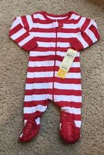 Leveret Kids Christmas Baby Footed Pajamas Sleeper 100% Cotton Size 3-6 Mos $29