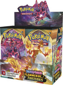 Pokemon Flammende Finsternis Display/Themendeck/Top Trainer Box/ 2 Pack Blister