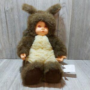 "Anne Geddes 15"" Baby Doll Dressed as a Squirrel Red Eyes"