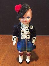 Vintage Doll with Nova Scotia Tartan Kilt made in Scotland