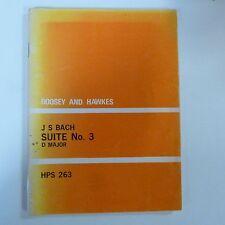 mini pocket score BACH Suite No 3 D major, HPS 263