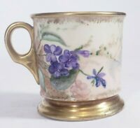 A Klingenberg France Limoges Flower Hand Painted Antique Mug Artist Signed AK