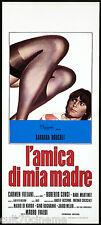 L'AMICA DI MIA MADRE LOCANDINA CINEMA BARBARA BOUCHET SEXY EROTICO ITALIA 1975