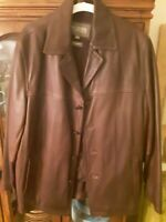 Wilsons Leather Coat with Thinsulate Lining Mens Large