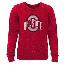 *Ohio State BIG LOGO Youth Boys M (10-12) Fleck Crew Neck Sweater--FREE SHIPPING