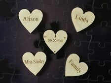 Personalised Hearts Small 30 mm Wedding Guestbook Name Hearts (Pack of 5)