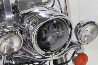 "7 "" inch visor headlight head lamp light trim beauty ring Harley touring softail"